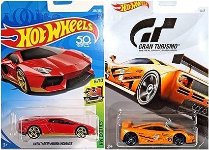 Amazon Com Hot Wheels Aventador Miura Homage Red 239 365 And