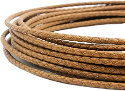 set Bracelet and necklace gold 1 M x 3 colors Gold light brown dark brown Cords faux leather 3 mm faux leather strap