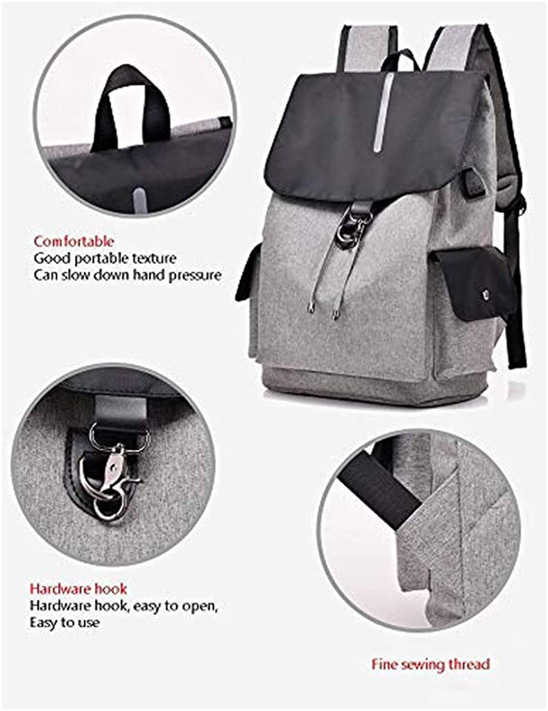 Comfortable and Easy Strap Design ZLVWB Bundle Bucket Bag Computer Bag Mens and Womens Large Capacity Backpack