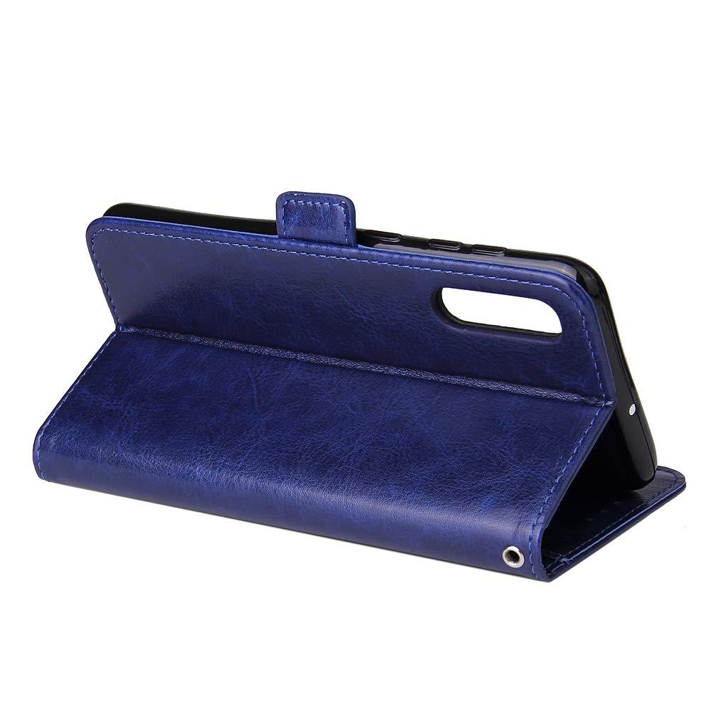 WIWJ Kompatibel mit Samsung Galaxy A50 H/ülle Rei/ßverschluss Lederh/ülle Wallet Handyh/ülle Klapph/ülle Ultra Slim Flip Case Stand Schutzh/ülle 360 Grad Bumper Tasche-Lila