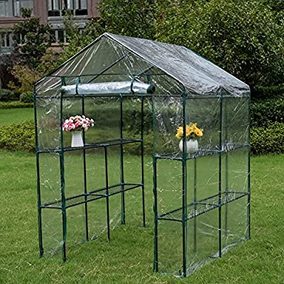 Sundale Outdoor Patio Garden Greenhouse and PVC Cover