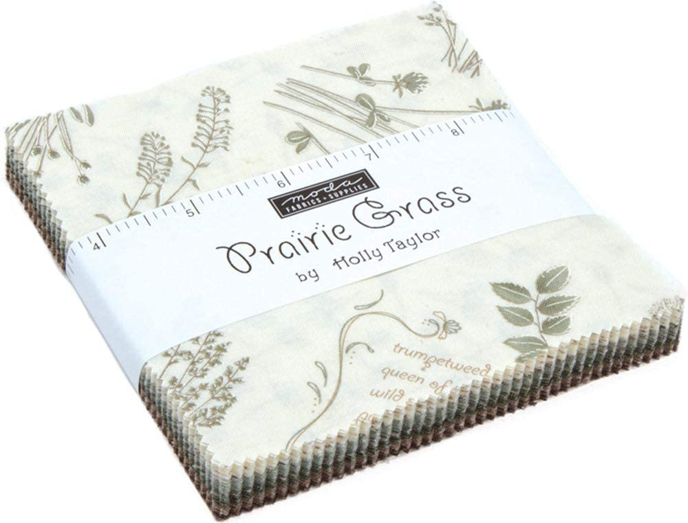 "Prairie Grass Charm Pack by Holly Taylor; 42-5"" Precut Fabric Quilt Squares"