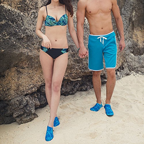 Skin Water Yoga Barefoot Surf Beach JustOneStyle blue NBERA Exercise for Flexible Aqua Prm Socks Shoes Swim 5wtxISx7q