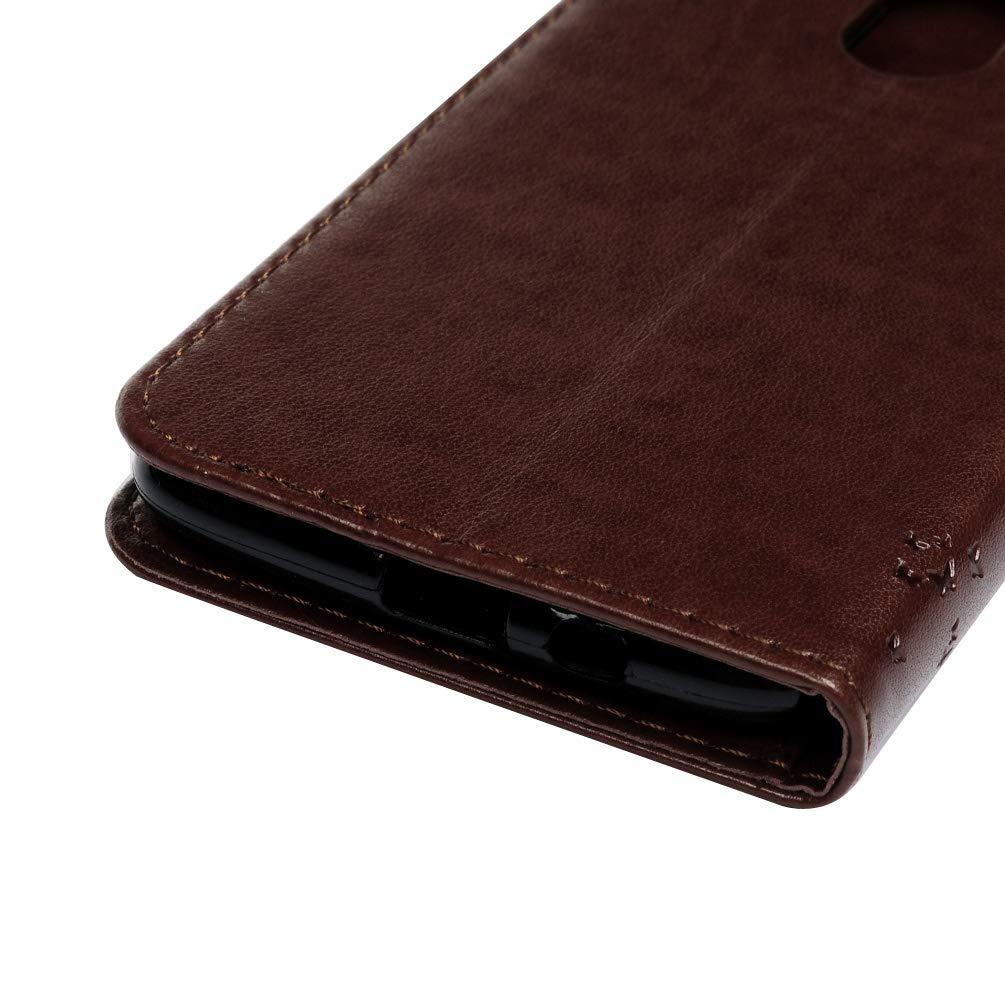 Gepr/ägter Schmetterling Leder Handyh/ülle Klappbares Brieftasche Schutzh/ülle Wallet Case Cover mit Integrierten Kartensteckpl/ätzen und Halterungsfunktion Grau Mlorras H/ülle f/ür Samsung Galaxy S9 Plus
