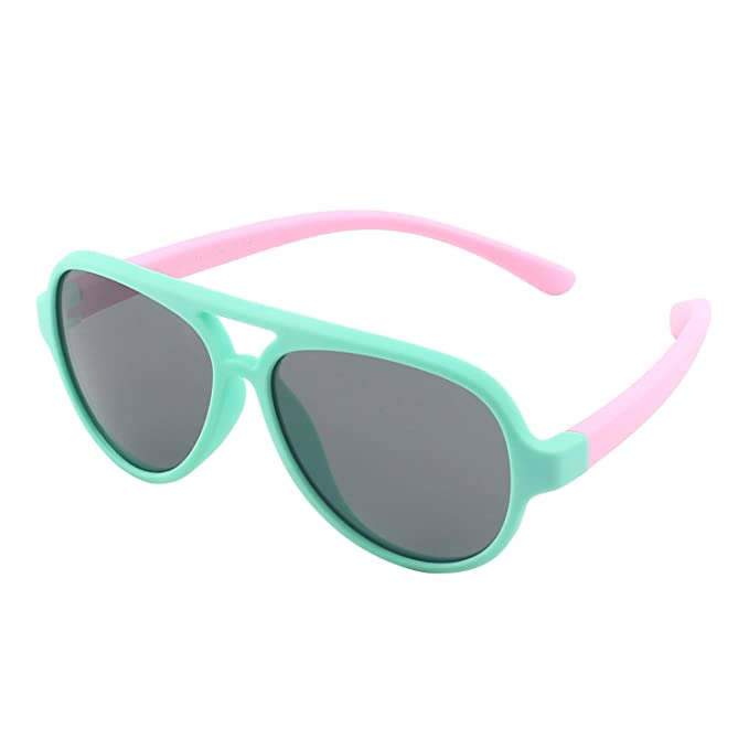 1022c5f92a51 CGID Rubber Flexible Kids Pilot Polarized Sunglasses Glasses for Baby and  Children Age 3-5
