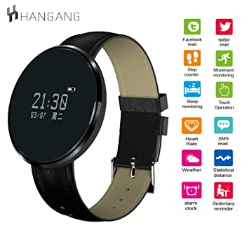Hangang Bluetooth Smart Bracelet,CF006 Heart Rate/Blood Pressure ...