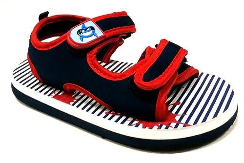 Sconto speciale ordinare on-line boutique outlet De Fonseca Sandali Ciabatte Bambino MOD. Lipari K301 Blue 21/27