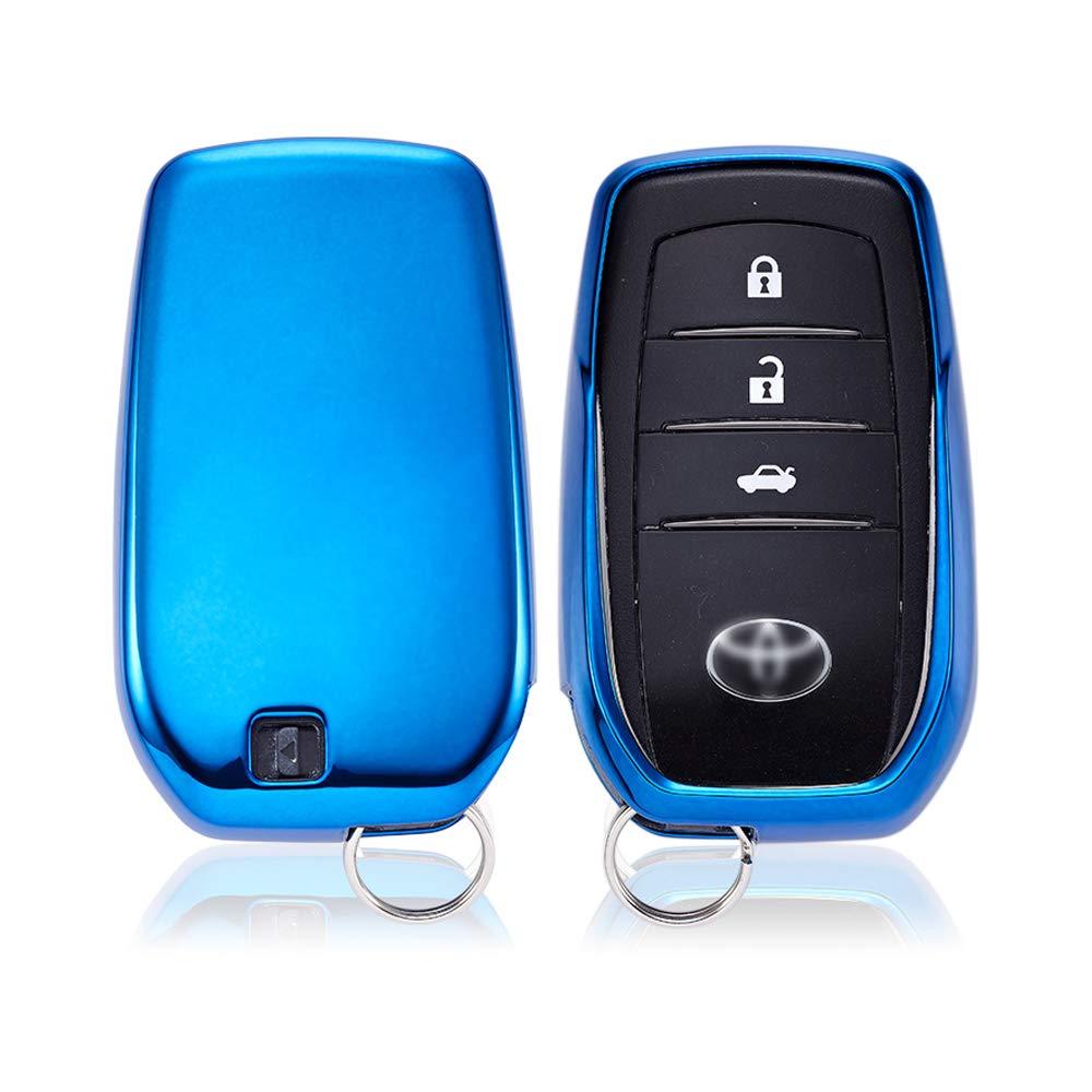 S/ólo versi/ón sin Llave//versi/ón Keyless Go C KAKTUS Toyota Funda de protecci/ón para Llave de Coche Smart Key de Toyota