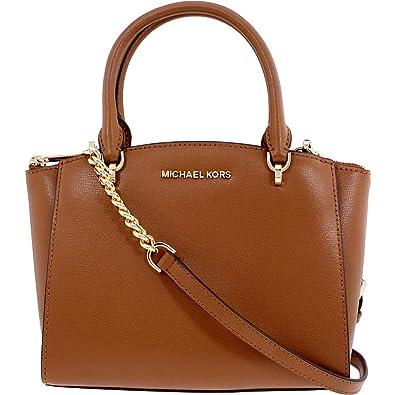 523e59e1513e Michael Kors Ellis Ladies Small Leather Convertible Satchel 35H7GE0S1L230   Handbags  Amazon.com