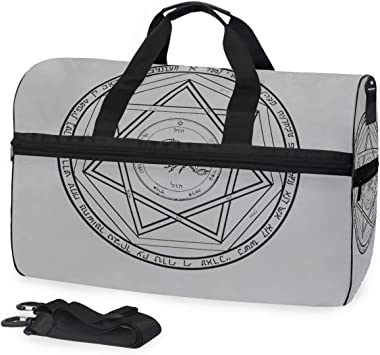 Protection Circle Cotton Tote Bag Demonology Collection