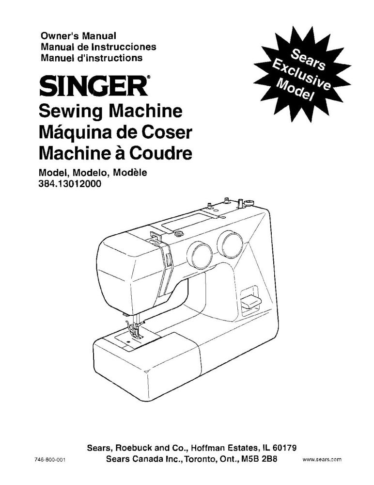 Singer 384 Sewing Machine/Embroidery/Serger Owners Manual Reprint: Amazon.com: Books