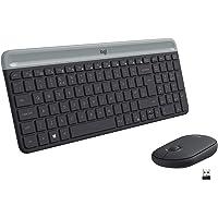 Logitech MK470 Combo Teclado y Ratón Inalámbrico para Windows, 2.4 GHz con Receptor USB Unifying, Diseño Compacto…