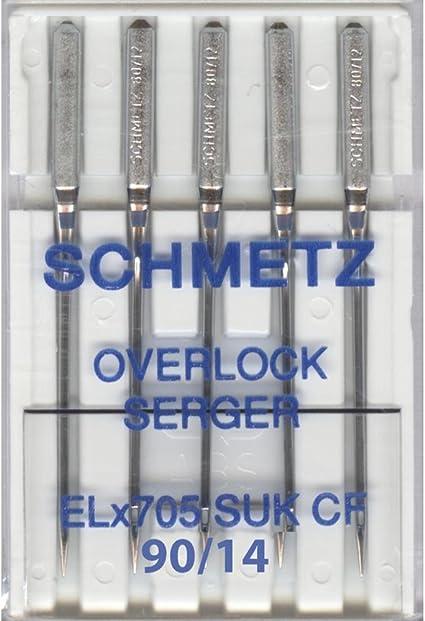 Inspira Overlock 5 Needles ELx705 Viking Pfaff Overlock Machines #90//14