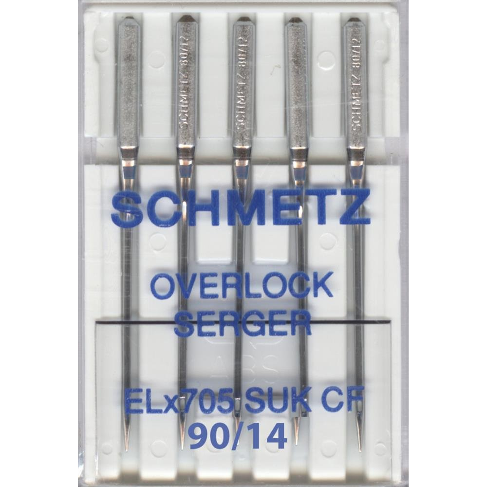 5 Pk. Schmetz ELX705CF Chrome Finish Overlock Serger Sewing Machine Needles