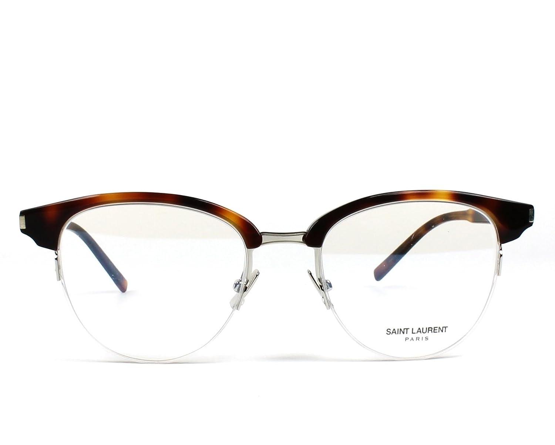 e6960589bc Saint Laurent SL 188 SLIM- 003 HAVANA Eyeglasses at Amazon Men s Clothing  store