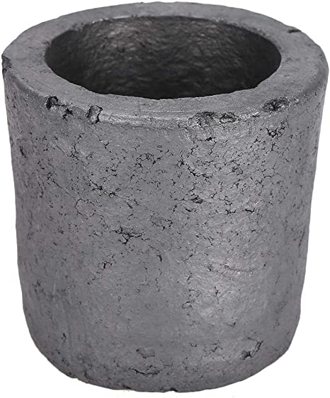 Bewinner 1 kg Crucible,Cup Shape Silicon Carbide Graphite Furnace Casting Crucible Melting Tool,Used for Smelting Precious Metals Such As Gold and Silver