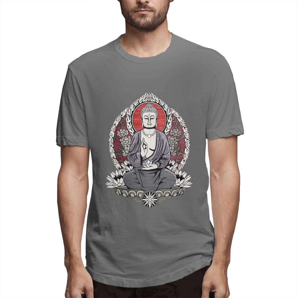 Seuriamin Siddartha Gautama Buddha Mens Fashion Gym Short Sleeve T-Shirts