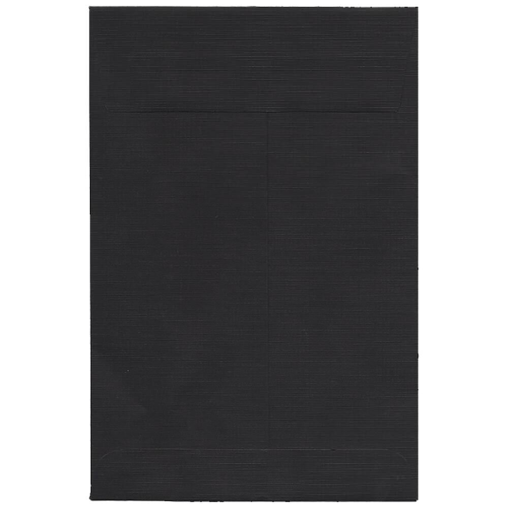 JAM Paper 152.4 x 228.6mm (6 x 9) Open End Catalog Envelope - Black - 25/pack JAM Paper & Envelope