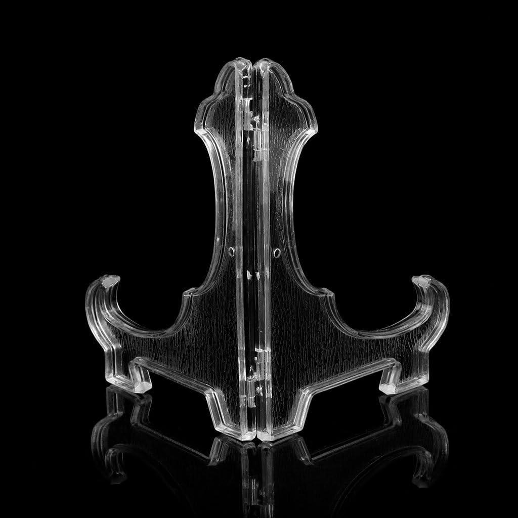 Milue Kunststoff Display Staffelei St/änder Schale Bilderrahmen Foto St/änder Halter 01# Wei/ß Teller