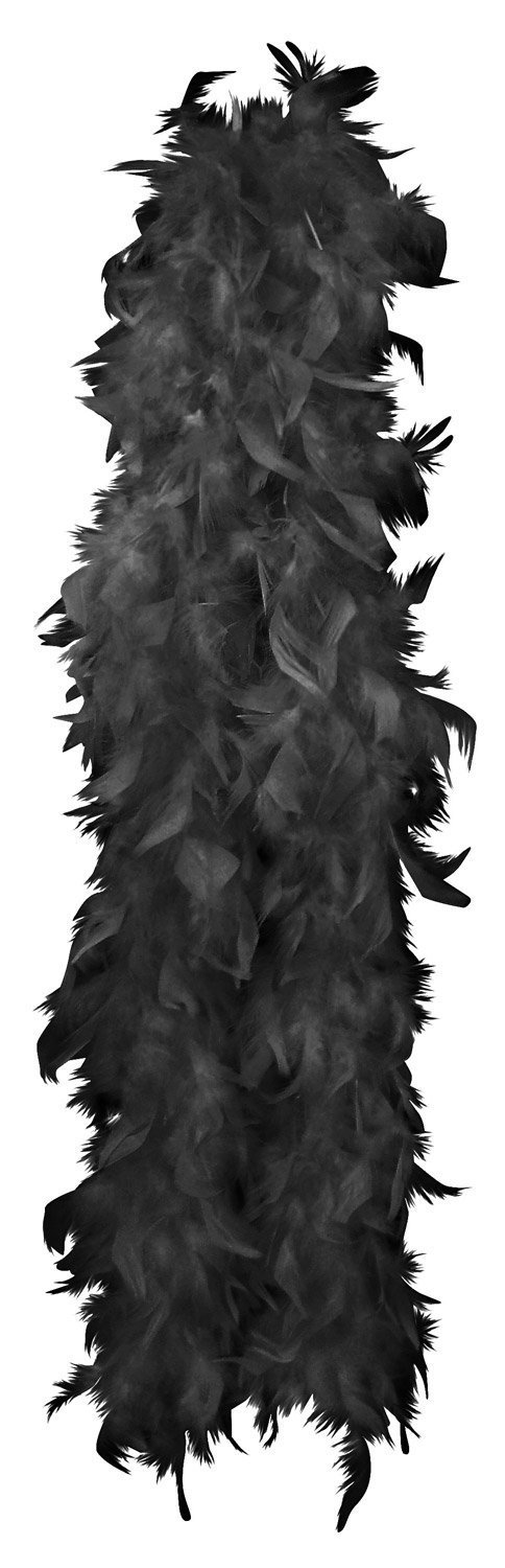 Black Glamorous Feather Boa. This Accessory Is The Perfect Addition To Any Ladies Fancy Dress Costume. The Boa Is 1.5M In Length Allsorts accessories