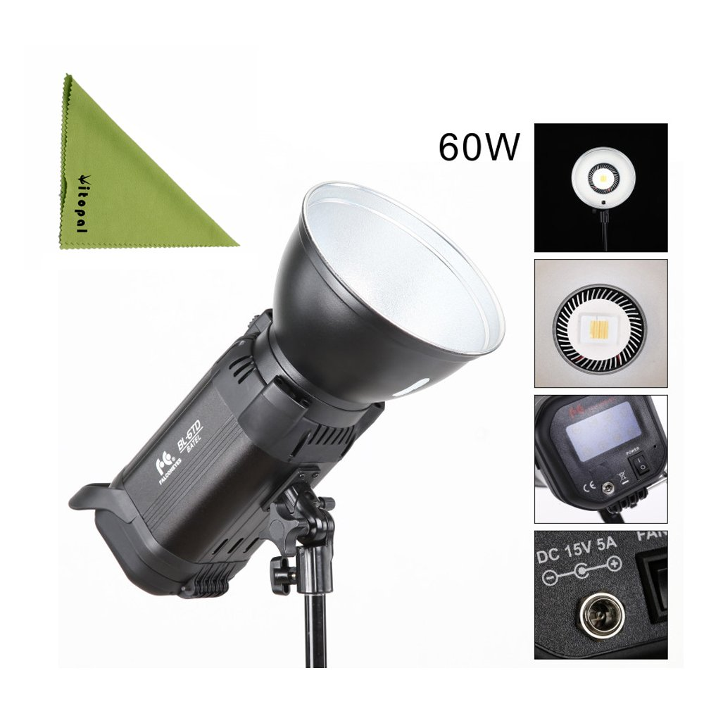 Falcon Eyes BL-6TD 60W Bi-color LED Light Photography Light Adjustable Color Temperature by FalconEyes