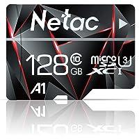 128GB Micro SD Card, Netac Memory Card MicroSD High Speed Transfer A1 C10 U3 MicroSDXC TF Card for Cemera/Phone/Nintendo…