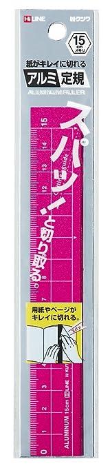 クツワ STAD アルミ定規 15cm XS15PK ピンク