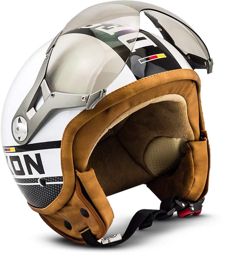 SOXON SP-325-PLUS Army /· Demi-Jet Moto Biker Retro Pilot Casque Jet Mofa Vespa Helmet Cruiser Chopper Vintage Bobber Scooter /· ECE certifi/és /· y compris le pare-soleil /· y compris le sac de casque /· Vert /· S