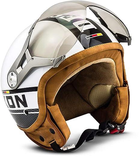 SOXON SP-325-PLUS White · Mofa Helmet Urban Vespa Retro Chopper Piloto Biker
