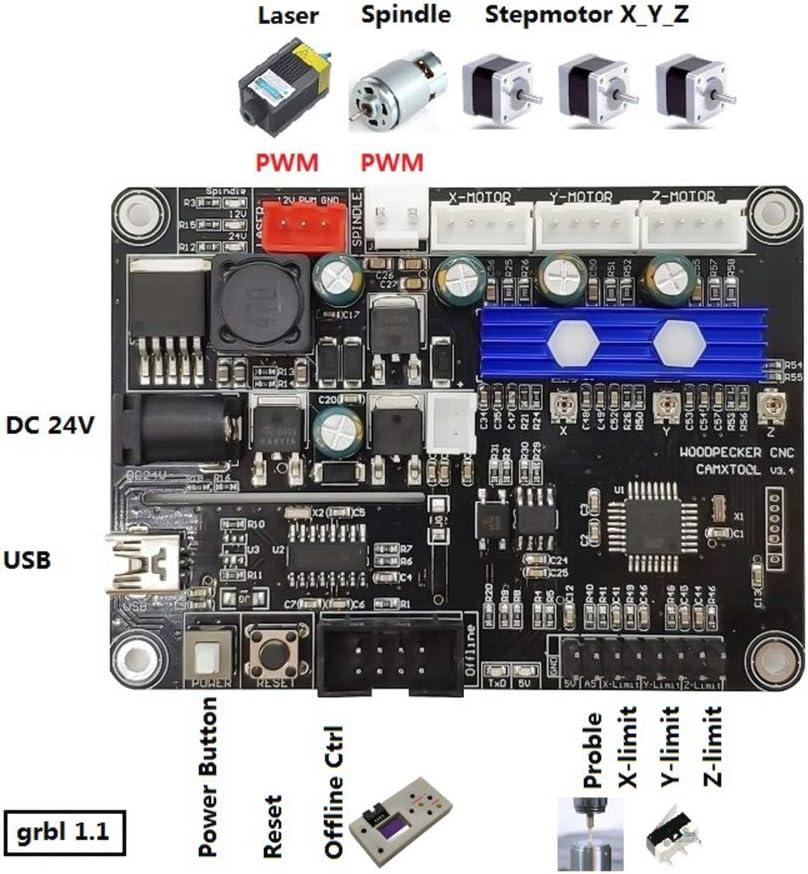 Control Board,Baugger GRBL 3-axis CNC Control Board GRBL Engraving Machine Control Panel