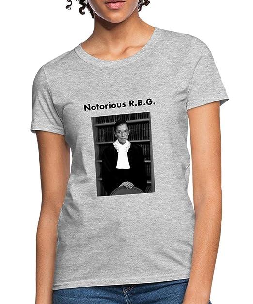 549736a17561 Amazon.com: Spreadshirt Notorious RBG Photo Portrait Women's T-Shirt ...