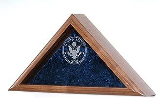 product image for All American Gifts Laser Engraved Military Service Emblem Flag Case - for 3x5 Flag (USMC Engraved Emblem)