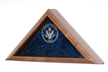 All American Gifts Engraved Military Service 3×5 Flag Display Case – Army Engraved Emblem