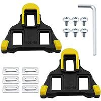 DXLing 1 par Tacos de Bicicleta Tacos para pedales de bicicleta con bloqueo automátic Calas para Bicicleta de Carretera…