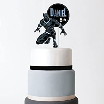 Black Panther Cake Topper Personalized Cake Topper Black Panther