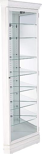 Howard Miller Drake Curio Cabinet, Aged Linen