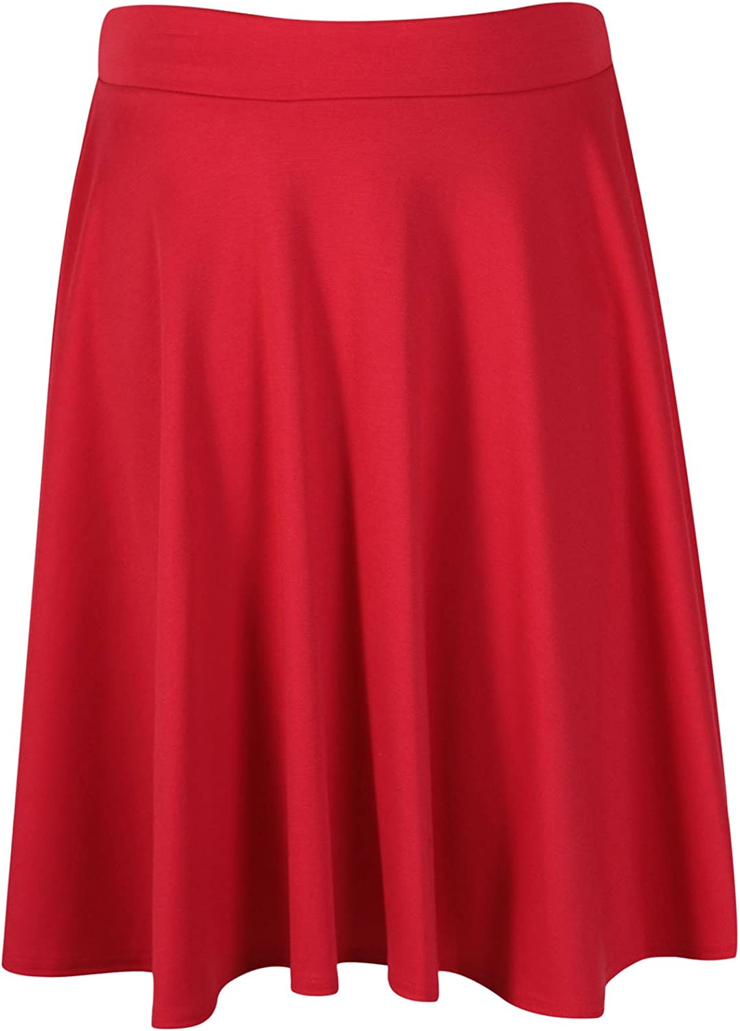 Ladies Elasticated Waistband Midi Skirt