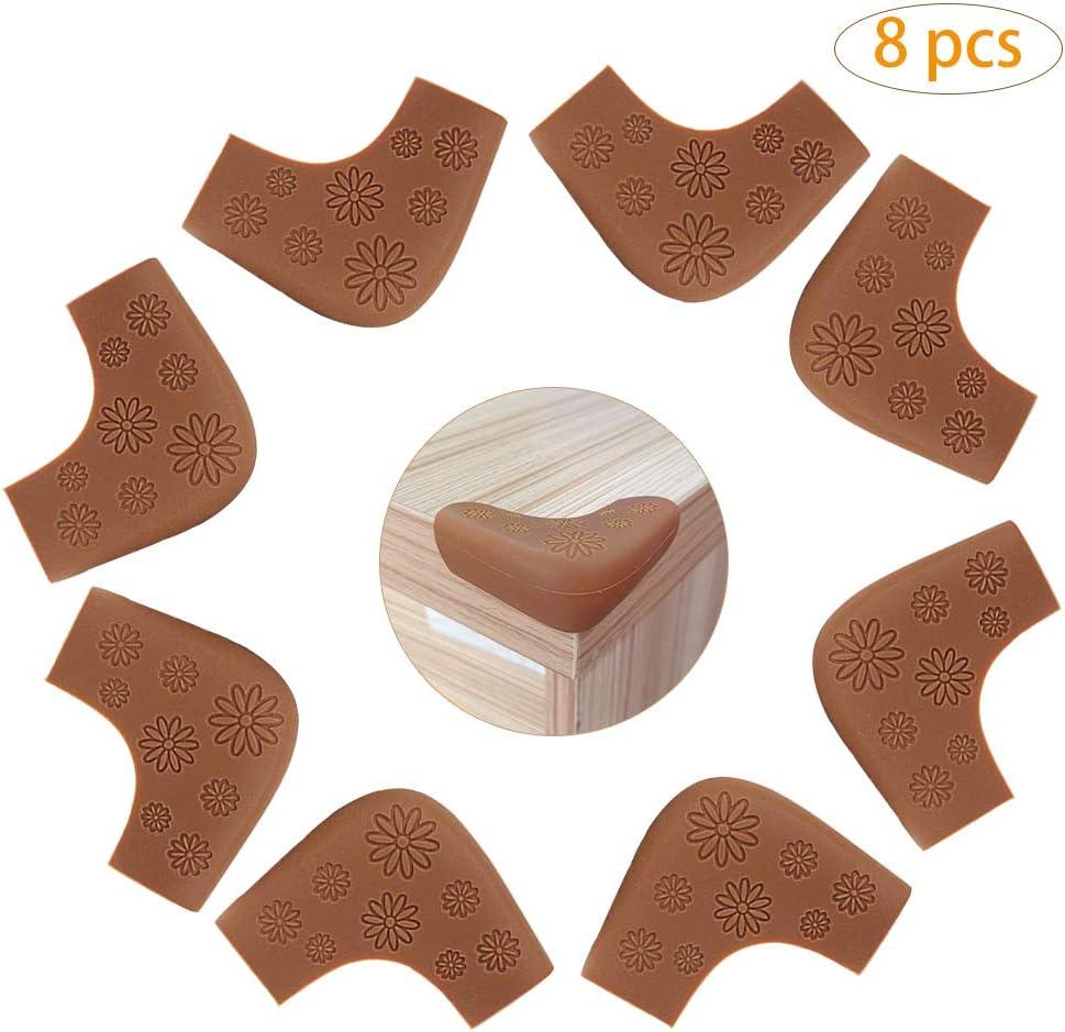 meubles de table en silicone marron Protections dangle de s/écurit/é pour b/éb/é enfant enfant a/în/é meubles et coins pointus Coin de Table Protection Bebe