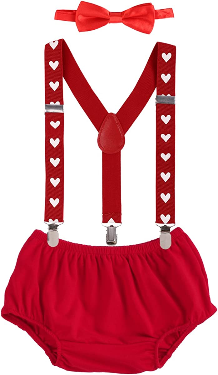 Bow Tie 3PCS Set Photo Props Costume Formal Gentleman Outfit Suit Y-Back Suspenders IDOPIP Newborn Baby Boys 1st //2nd Birthday Party Cake Smash Outfits Shorts PP Pants Bloomers