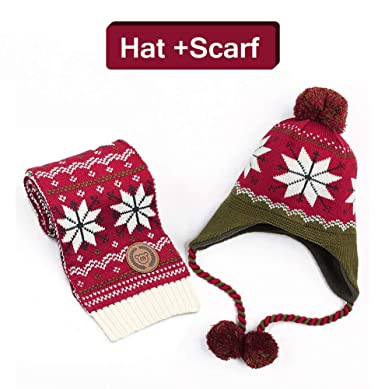 Baby Knit Hat Scarf Gloves -Soo Angeles Mittens Girls Boys Winter Warm  Festival Birthday Christmas ea629286fcb9