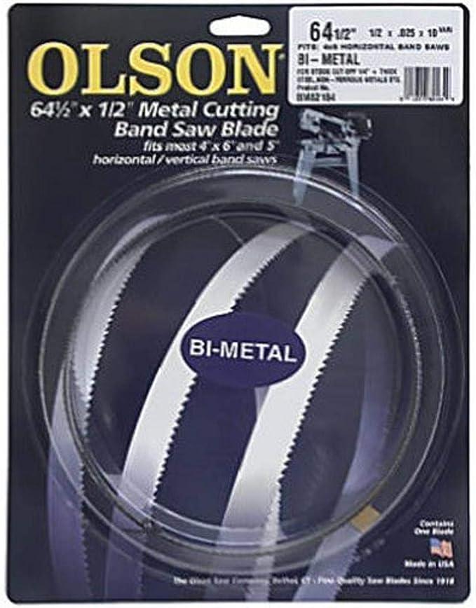 "89/"" 7/'5/"" X 1//2 X .025 X 6T COBALT BIMETAL BAND SAW BLADE DISSTON USA"