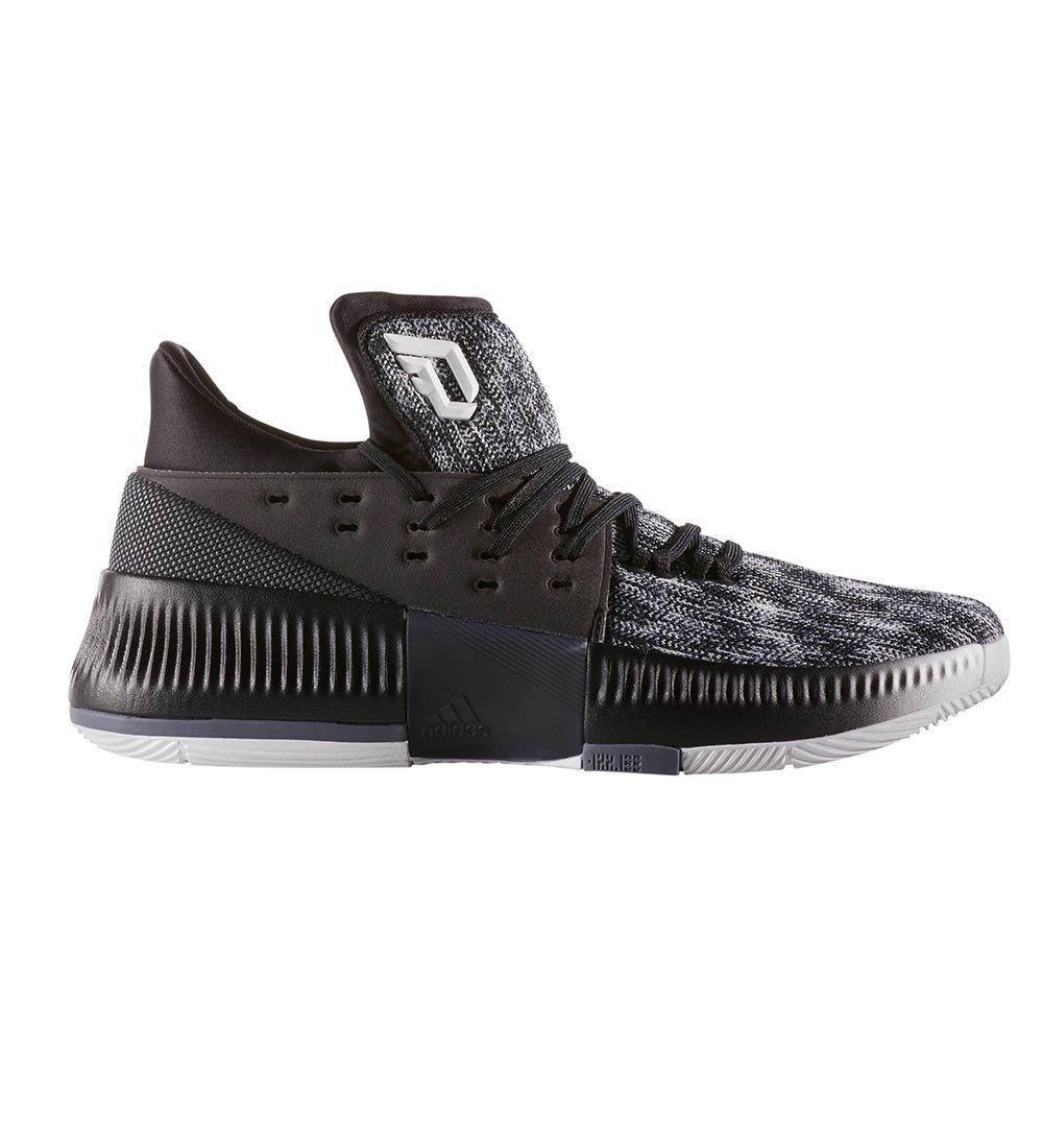 adidas Dame 3 White/Black/Onix Basketball Shoes 12 by adidas