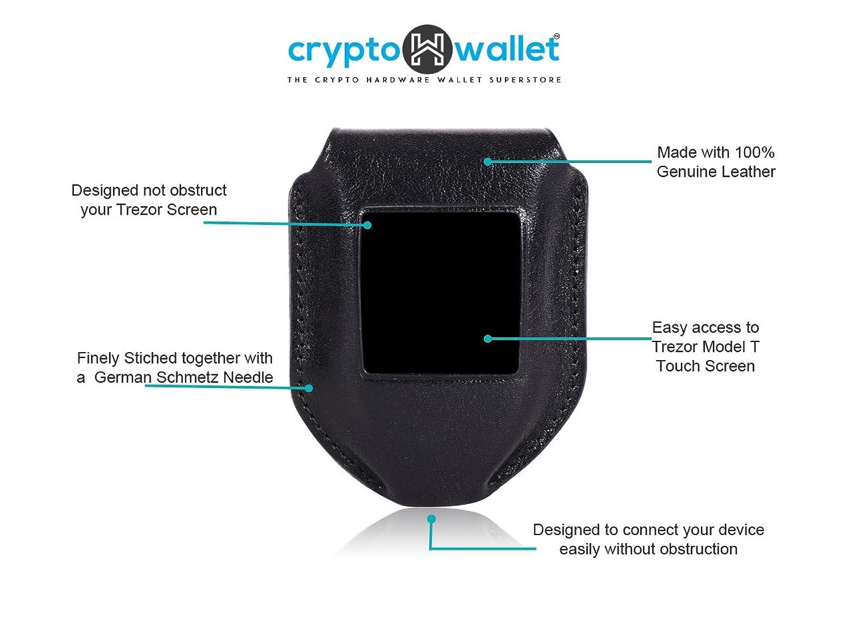 Amazon CryptoHWwallet Leather Case For Trezor Model T Hardware Wallet CaseOnlyBlack Clothing
