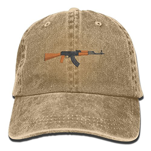 Vintage Cotton Denim Cap Baseball Hat Kalashnikov AK-47 Six-Panel Adjustable Trucker Dad Hat for Adults Unisex (Best Drum Magazine For Ar15)