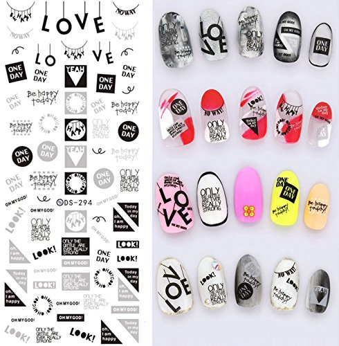 Word Transfer - Nail Art Water Transfer Stickers Words - DS294 Nail Sticker Tattoo - FashionDancing
