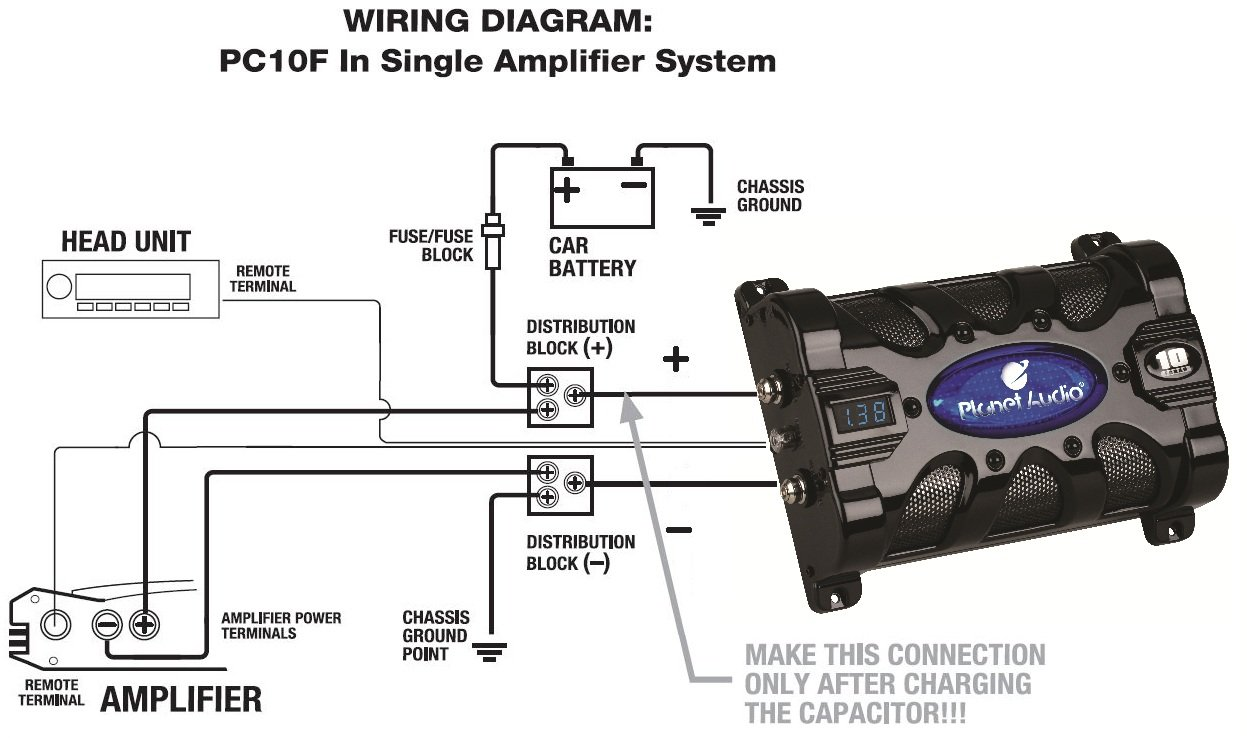 planet audio capacitor wiring wiring diagram site Car Audio System Wiring Diagram