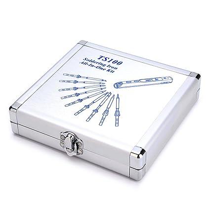 TS100 TS100 - Caja de soldadura eléctrica para soldador de hierro y aluminio, caja de