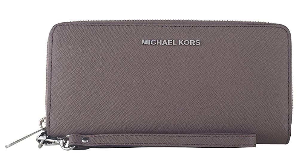387d8a97a62f MICHAEL Michael Kors Jet Set Travel Saffiano Leather Continental Wallet ( Cinder) at Amazon Women s Clothing store