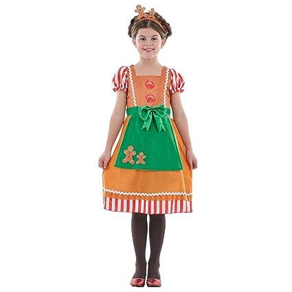 Fun Shack Naranja Pan De Jengibre Disfraz para Niñas - L: Amazon ...