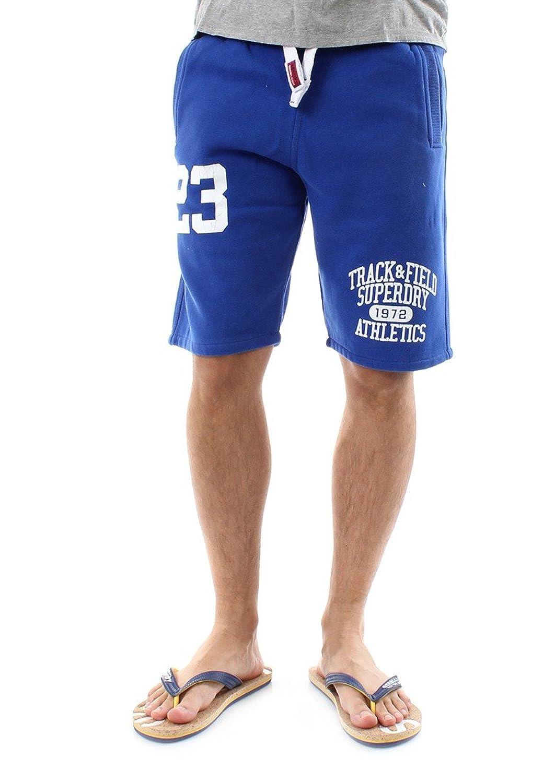 Superdry Shorts Men TRACKSTER SWEATSHORT Mazarine Blue
